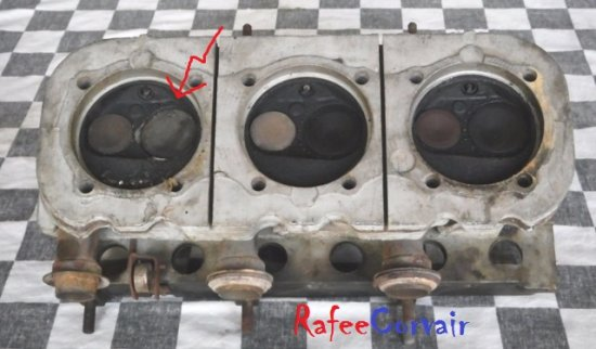 1965-67 cylinder head, 140 HP, right, used, #REN828