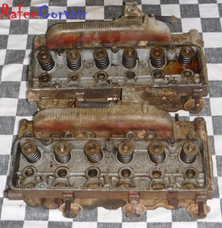 1962-63 cylinder heads, pair, 102 HP, used, #REN826