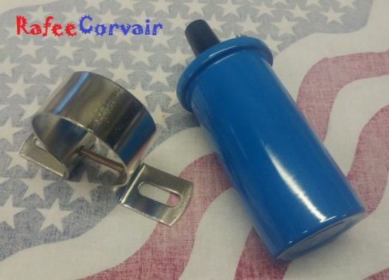 1960-69 ignition coil, blue 0.7 ohms, performance #RIG40BU