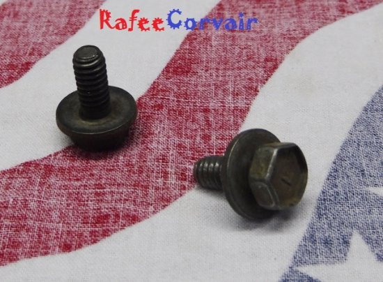 1960-69 oil pan bolt with washer, used, #RHP107