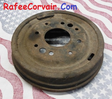 1960-63 front brake drum, used, #RBP82