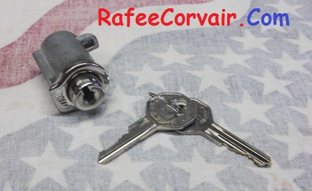 1960-64 glove box cylinder , 2 keys, #RSW78