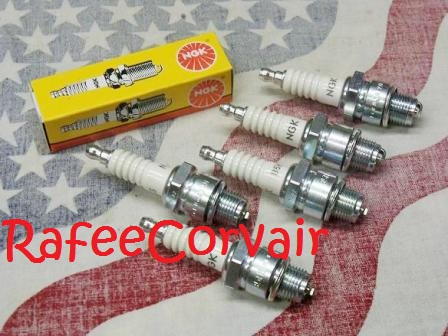 1960-69 spark plugs, NGK, set of 6,#RIG05