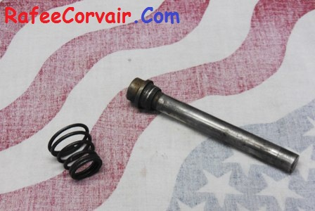 1960-61 fuel pump rod with spring, used, #RFS144