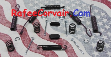 1961-62 brake spring kit, rear, F/C, #RBP50