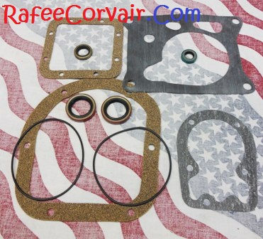 1964-65 diff to trans. gasket & seal kit, 4-speed, #RDP209