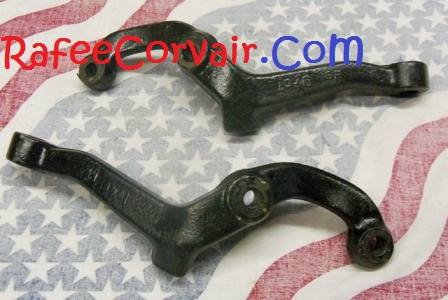 1962-64 used steering arms, pair,RUP53