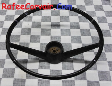 1964 steering wheel w. chrome trim, used, #RIA81 - Click Image to Close
