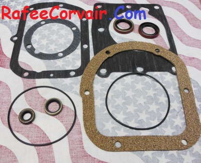 1966-69 diff to trans. gasket & seal kit, 3-speed, #RDP81