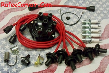 1962-69 Turbo Rafman tune-up kit II 8 mm red wires,#RIP75