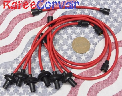 1961-69 spark plug wires ,7mm,red,#RIG15