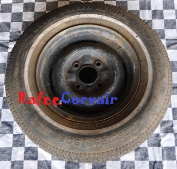 1962-64 wheel with tire, used, #RWT06