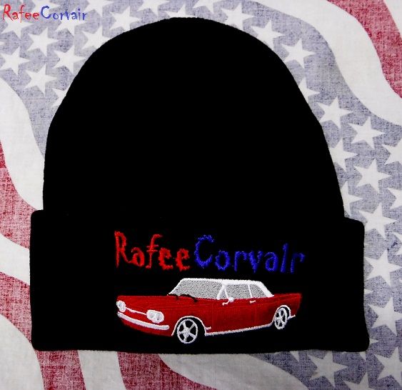1960-64 Corvair beanie, black, #RGE01 - Click Image to Close