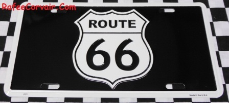 Route 66 black Vanity license plate, # RSS05