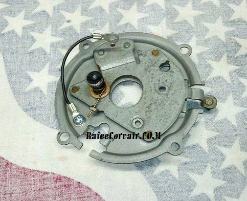 1962-69 distributor point plate, HP rebuilt, #RIG30