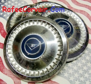 1960-64 set of 4 used center hubcaps, #RWT02