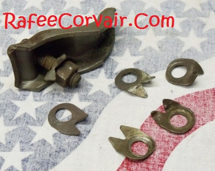 1960-69 set of 6 used lock nuts, # RUP27