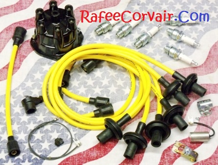 1962-69 Turbo Rafman tune-up kit II 8 mm yellow wires, #RIP73