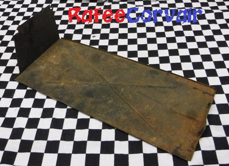 1960-64 muffler shield, right side, used, #REX36